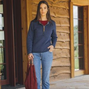 Guideboat Co J'Adore Quilted Half Zip Pullover